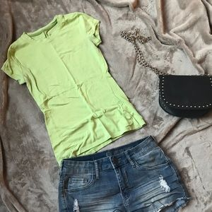 Lime Green Fitted Tee